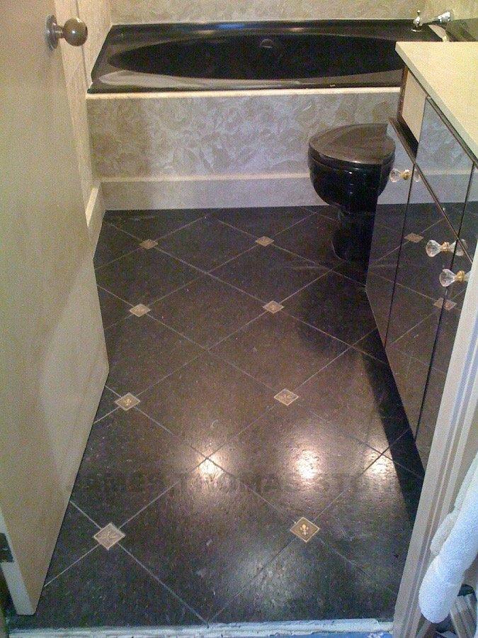 custom bathroom stone floor