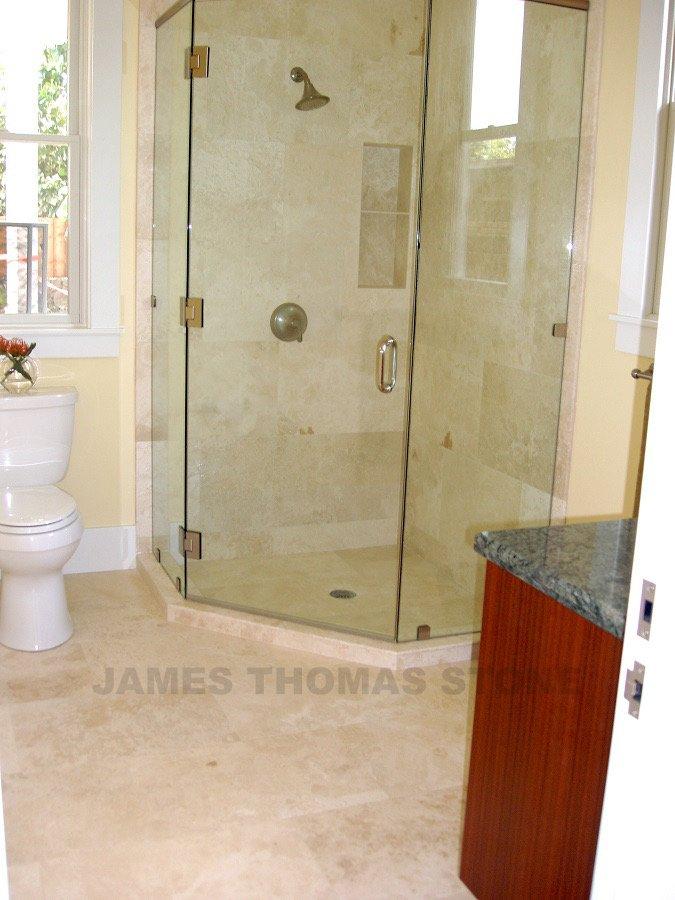 marble shower and bathroom floor