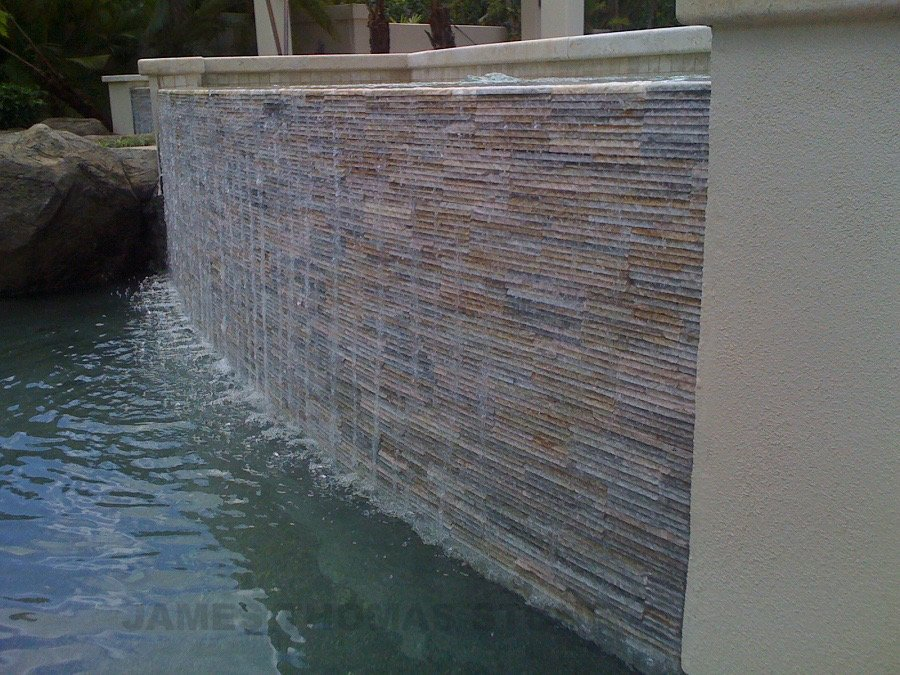 stone waterfall design
