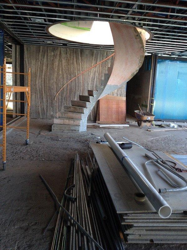 interior before stone installation