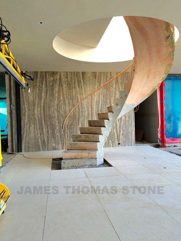 interior stone installation