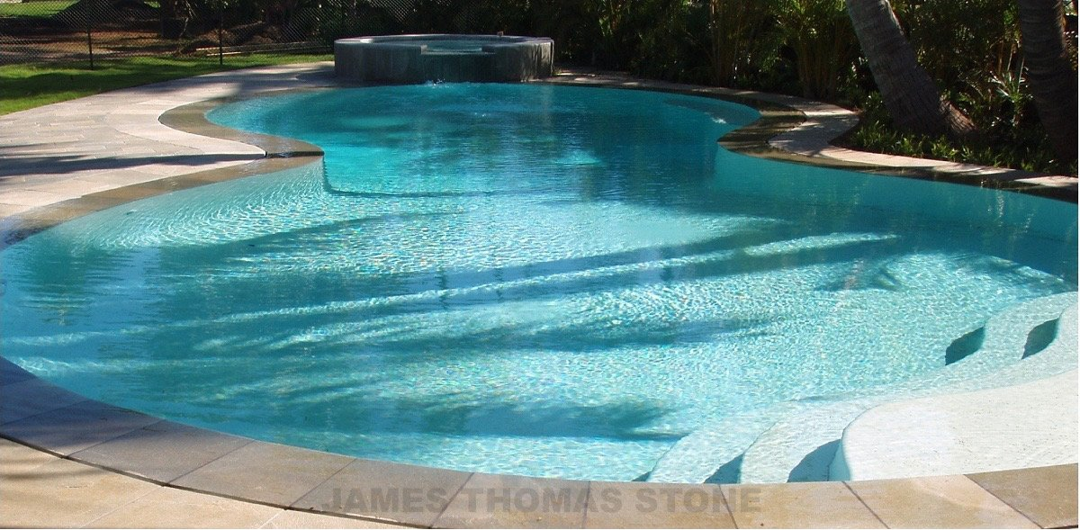 custom pool stone design