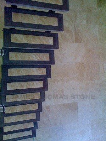 stone installation on steps