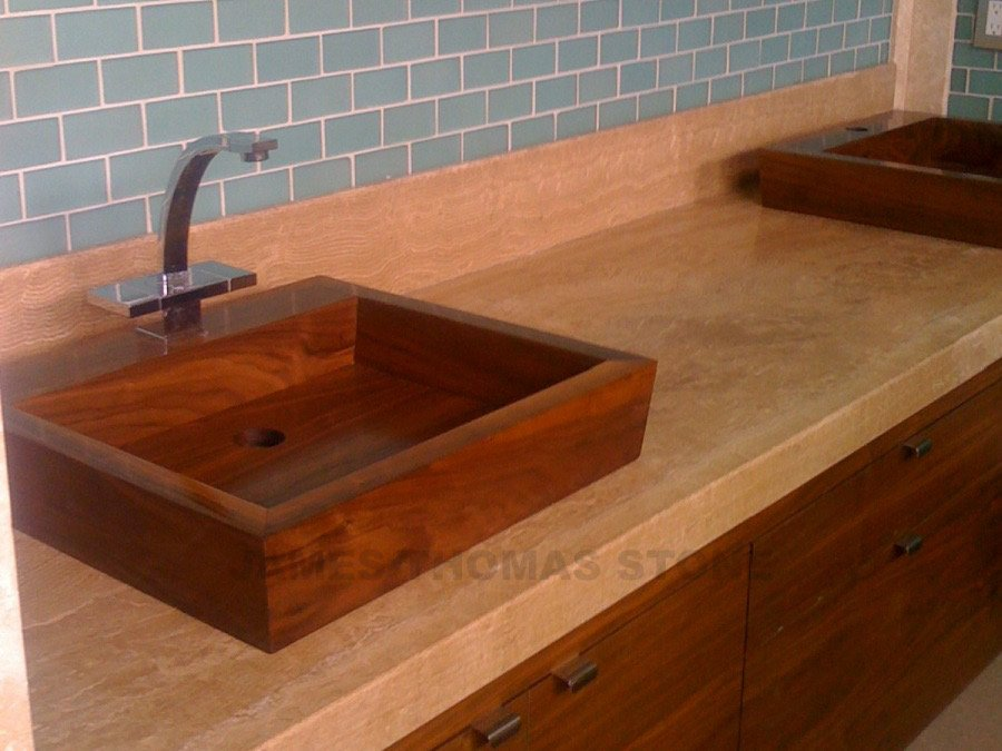 travertine bathroom sink design