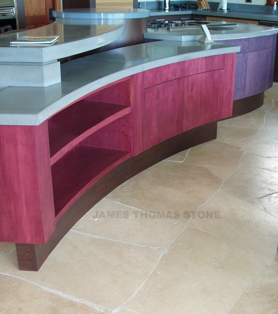 custom kitchen stone installation
