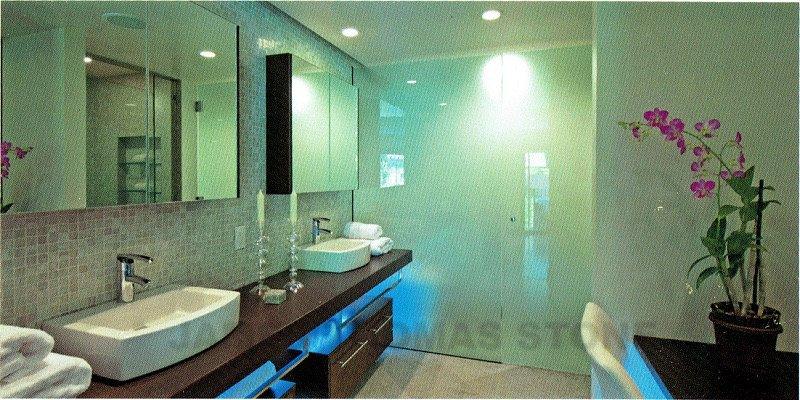 interior bathroom stone installation