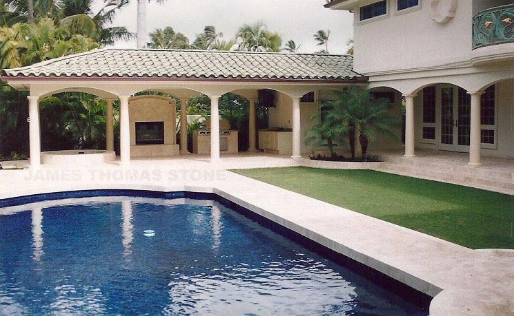 exterior pool deck stone