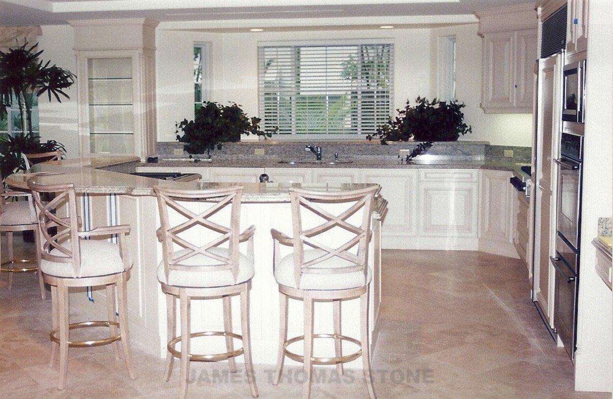 custom interior kitchen stone installation