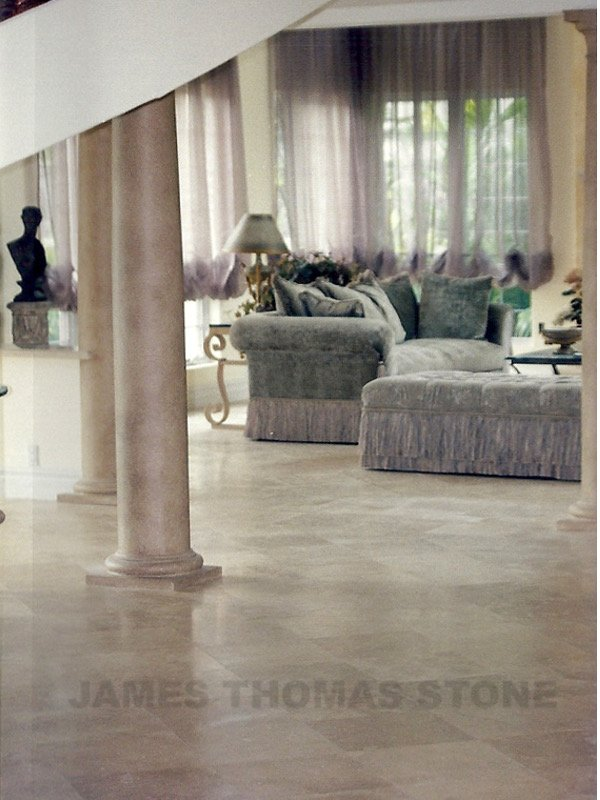 custom floor marble installation