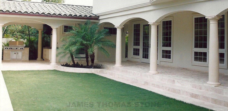 exterior stone lanai walkway