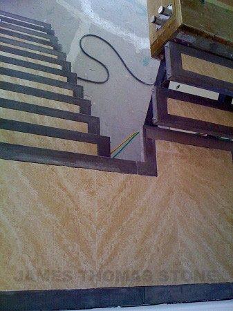 custom stair step stone installation