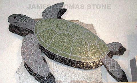glass mosaic turtle